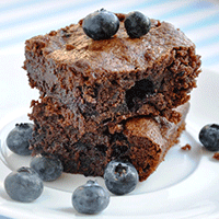 Blueberry-brownie